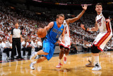 Dallas Mavericks v Miami Heat - Game One, New York, FL - MAY 31: Jose Barea and Mike Miller Photographic Print by Jesse D. Garrabrant