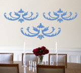 Blue Flourish Wall Decal