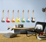 Guitars - Set of 7 Multi Wall Decal