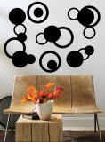 Black Rings Wall Decal
