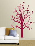 Red Tree Muursticker