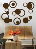 Brown Rings Wall Decal