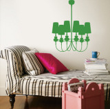 Green Modern Chandelier Wall Decal