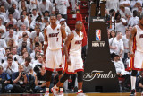 Dallas Mavericks v Miami Heat - Game One, Miami, FL - MAY 31: Chris Bosh and Dwyane Wade Photographic Print by Jesse D. Garrabrant