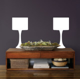 White Modern Lamps Autocollant mural