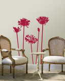 Red Agapanthus Wall Decal