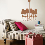 Mocha Modern Chandelier Wall Decal