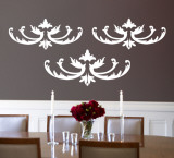 White Flourish Wall Decal