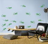 Green Lizards Autocollant mural