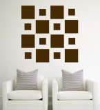 Brown Squares Wall Decal