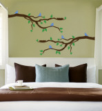 Branch With Blue Birds Wall Decal