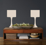 Taupe Modern Lamps Autocollant mural