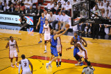 Dallas Mavericks v Miami Heat - Game One, Miami, FL - MAY 31: Dirk Nowitzki, Udonis Haslem, Chris B Photographic Print by David Dow