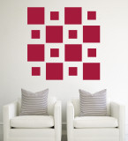 Red Squares Wall Decal