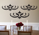 Black Flourish Wall Decal