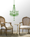 Green Classic Chandelier Wall Decal