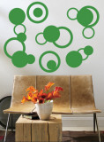 Green Rings Wall Decal
