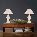 Taupe Classic Lamps Wall Decal