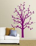 Purple Tree Muursticker