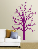 Purple Tree Wall Decal