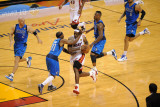 Dallas Mavericks v Miami Heat - Game Two, Miami, FL - JUNE 2: LeBron James and Jason Terry Photographic Print by Noah Graham