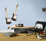 Black Guitars Wall Decal