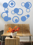 Blue Rings Wall Decal