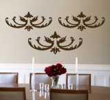 Brown Flourish Wall Decal