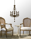Brown Classic Chandelier Wall Decal