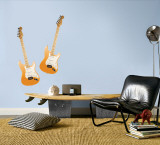 Orange Guitars Wall Decal