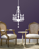 White Classic Chandelier Wall Decal