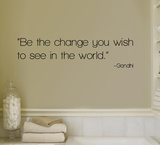 Change - Gandhi Autocollant mural