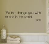 Change - Gandhi Wandtattoo
