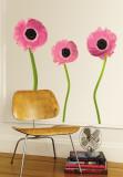Pivoines roses Autocollant mural
