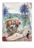 Nude with Flowers Prints by Marc Chagall