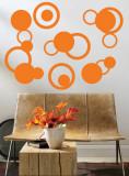 Orange Rings Autocollant mural