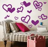 Purple Hearts Autocollant