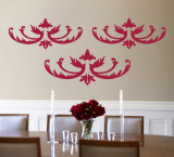 Red Flourish Wall Decal