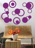 Purple Rings Autocollant mural