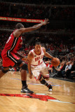Miami Heat v Chicago Bulls - Game Five, Chicago, IL - MAY 26: Derrick Rose and Joel Anthony Photographic Print by Nathaniel S. Butler