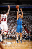Dallas Mavericks v Miami Heat - Game One, Miami, FL - MAY 31: Peja Stojakovic and Udonis Haslem Photographic Print by Nathaniel S. Butler