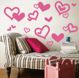 Light Pink Hearts Wall Decal