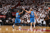 Dallas Mavericks v Miami Heat - Game One, Miami, FL - MAY 31: Dirk Nowitzki and DeShawn Stevenson Photographic Print by Nathaniel S. Butler