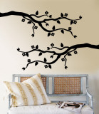 Black Cherry Blossom Branch Vinilo decorativo