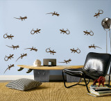 Brown Lizards Wall Decal