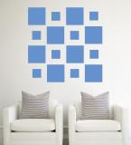 Blue Squares Autocollant mural