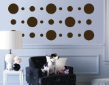 Brown Circles Wall Decal