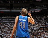 Dallas Mavericks v Miami Heat - Game Two, Miami, FL - JUNE 02: Dirk Nowitzki Photographic Print by Nathaniel S. Butler