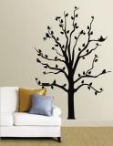 Black Tree With Birds Muursticker