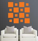 Orange Squares Kalkomania ścienna